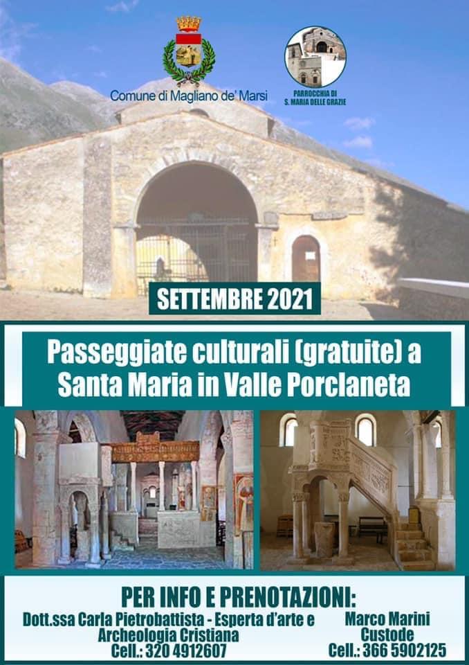Passeggiate culturali gratuite a Santa Maria in Valle Porclaneta
