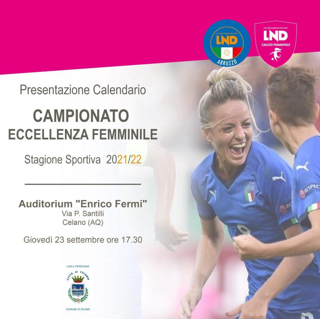 Presentazione del calendario del Campionato di eccellenza femminile regionale a Celano