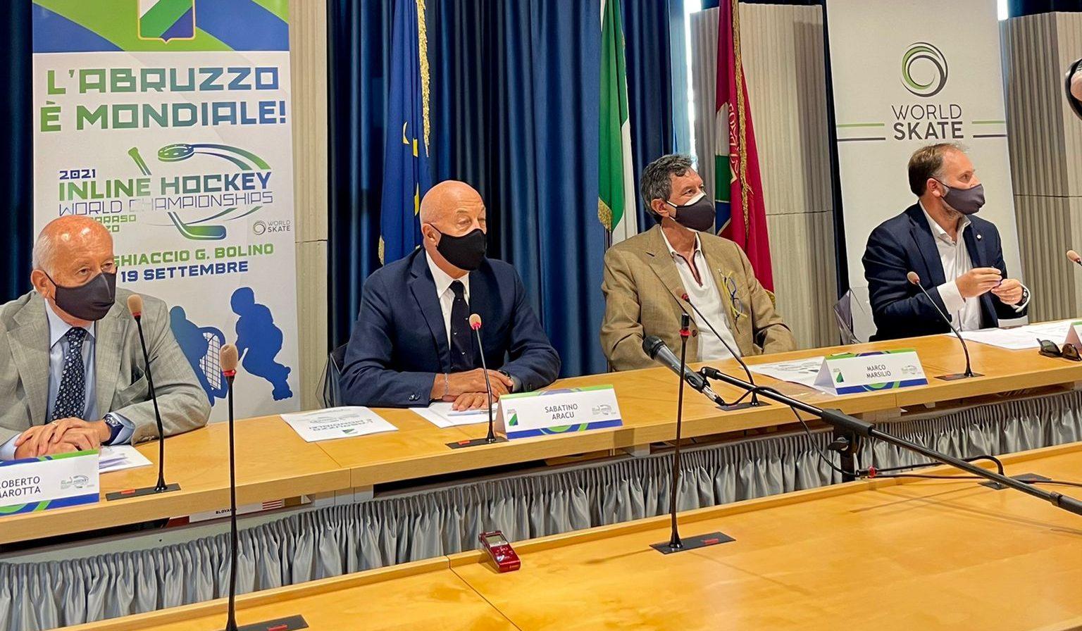 L'Abruzzo è Mondiale a Roccaraso. A Pescara la presentazione degli Inline Hockey World Championships 2021