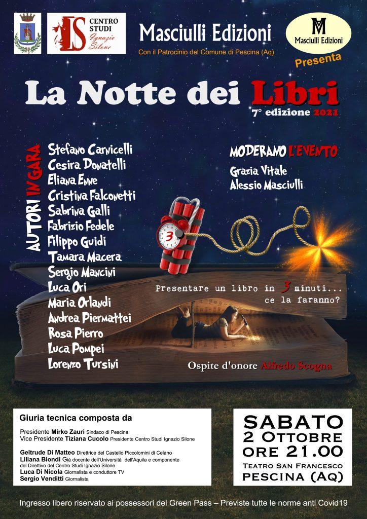 Il sindaco Zauri ospita 'La Notte dei Libri 2021', a Pescina la settima edizione del progetto Masciulli Edizioni