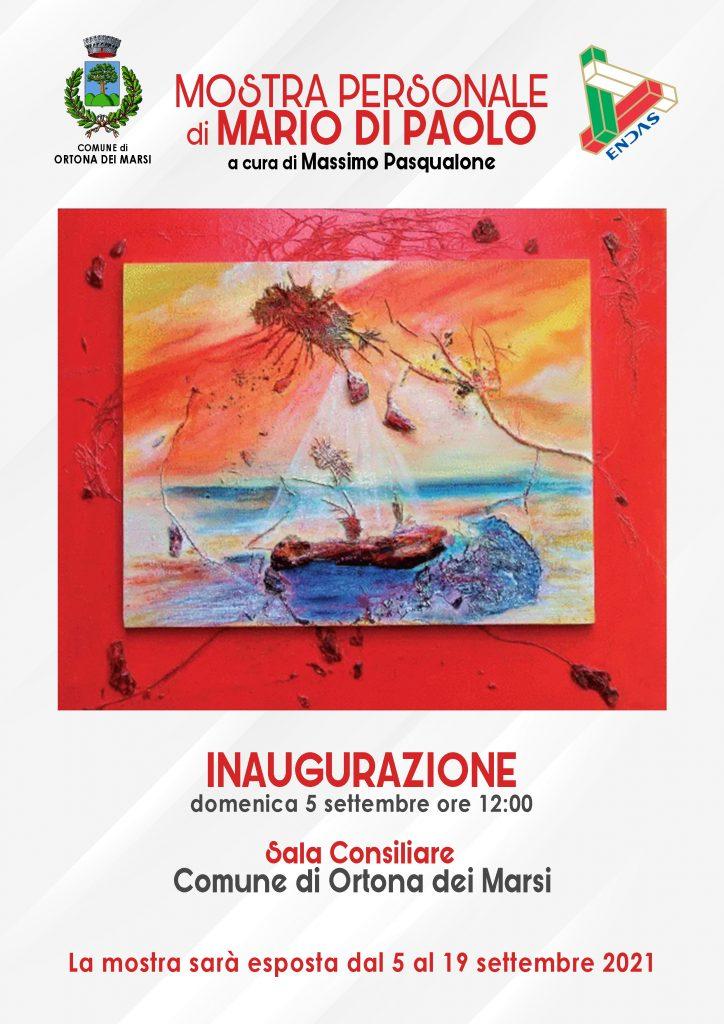 Ortona dei Marsi inaugura la mostra di Mario Di Paolo