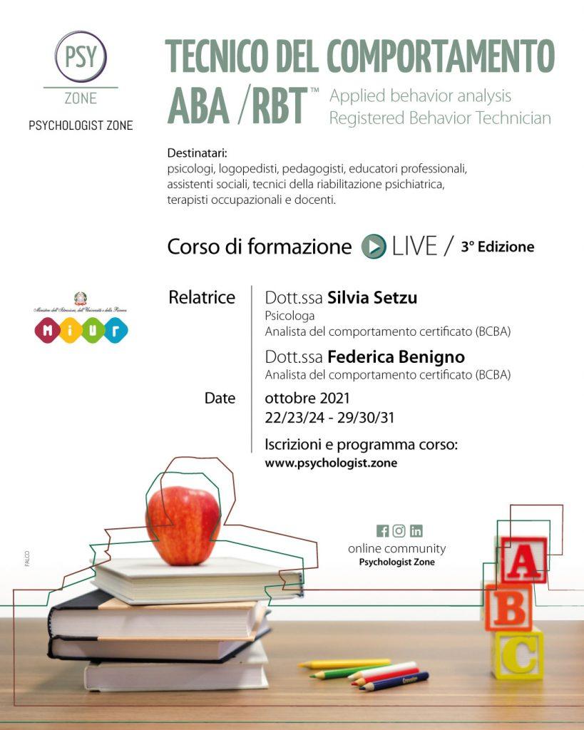 La Psychologist Zone di Avezzano apre le iscrizioni al corso tecnico del comportamento ABA/RBT