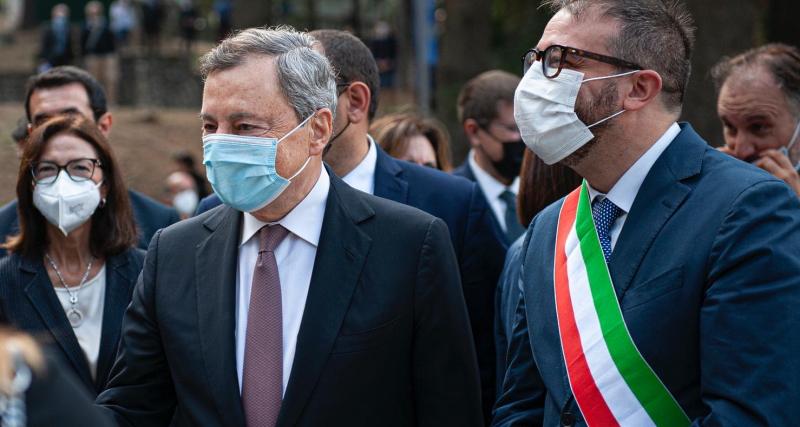 Terremoto 6 aprile 2009: inaugurato il Parco della Memoria alla presenza del Presidente Draghi e della ministra Carfagna