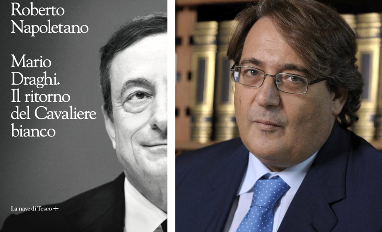 """Nel giardino del Comune di Avezzano, Napoletano """"racconta"""" Draghi"""