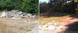 Bonificata e ripulita l'area dell'ex campo sportivo a Corcumello