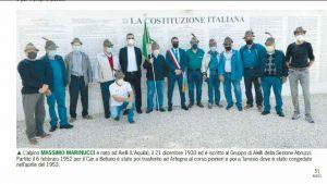 """L'aiellese Massimo Marinucci sulla rivista L'Alpino, Di Natale: """"Orgogliosi, insieme a te!"""""""