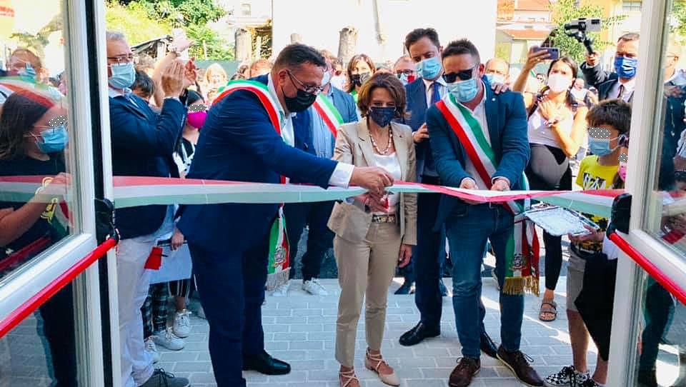 """Inaugurato il nuovo plesso scolastico Aielli–Cerchio, Tedeschi: """"Giornata storica per l'intera Comunità di Cerchio"""""""