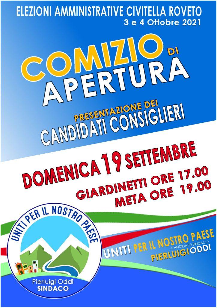Elezioni comunali a Civitella Roveto, domenica comizio del candidato sindaco Pierluigi Oddi