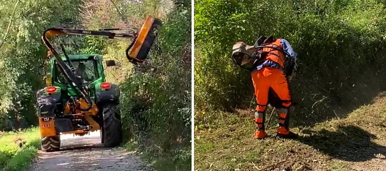 Iniziati i lavori di decespugliamento dei fossi e arbusti delle strade rurali del territorio di Celano