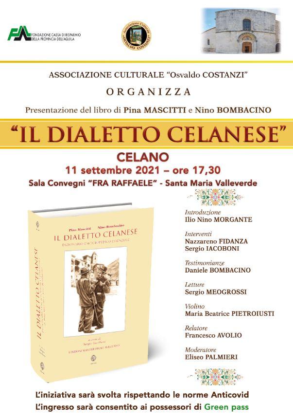 Il dialetto celanese, presentazione del libro di Pina Mascitti e Nino Bombacino