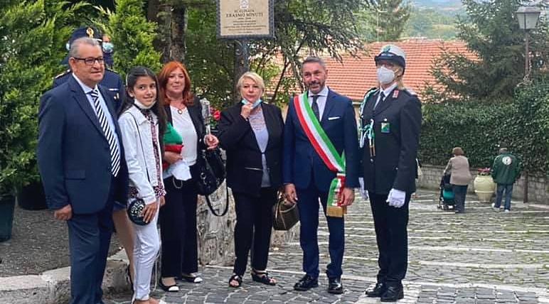 Intitolata al maestro Erasmo Minuti la scalinata che porta al Palazzo Ducale di Tagliacozzo