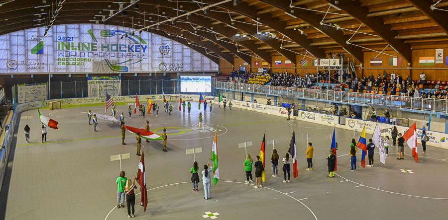 Mondiali di Hockey Inline 2021: a Roccaraso grande festa con la cerimonia di apertura