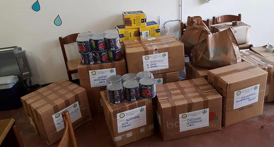 Consegnate le tante donazioni dei cittadini di Carsoli ai profughi afghani