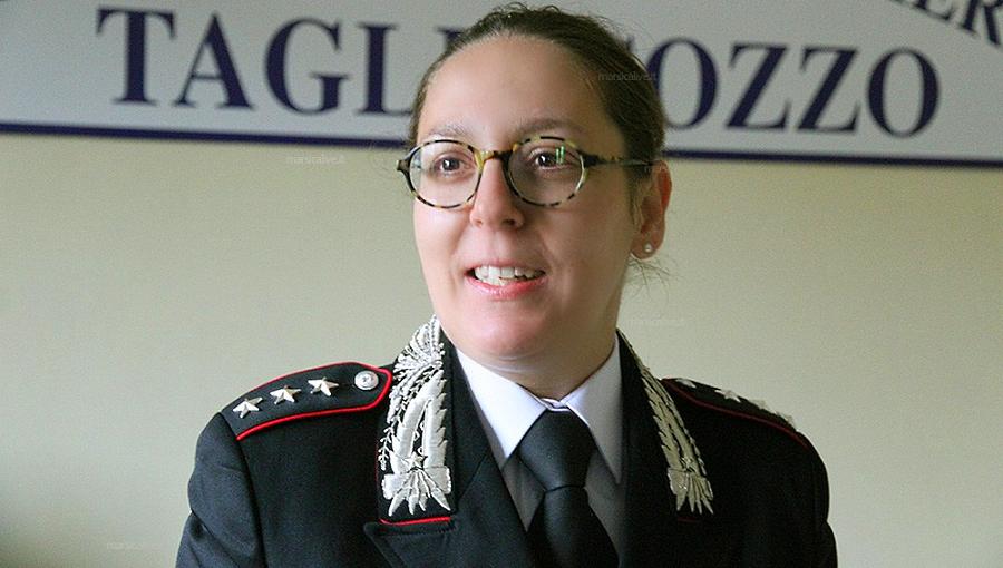 Carabinieri di Tagliacozzo: il capitano Silvia Gobbini lascia il comando