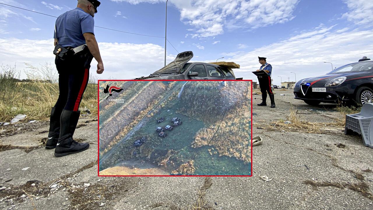 Sorpreso a cannibalizzare auto rubata, arrestato in Puglia uomo residente a Celano