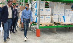 Il ministro dello Sviluppo Economico Giorgetti visita aziende in Abruzzo