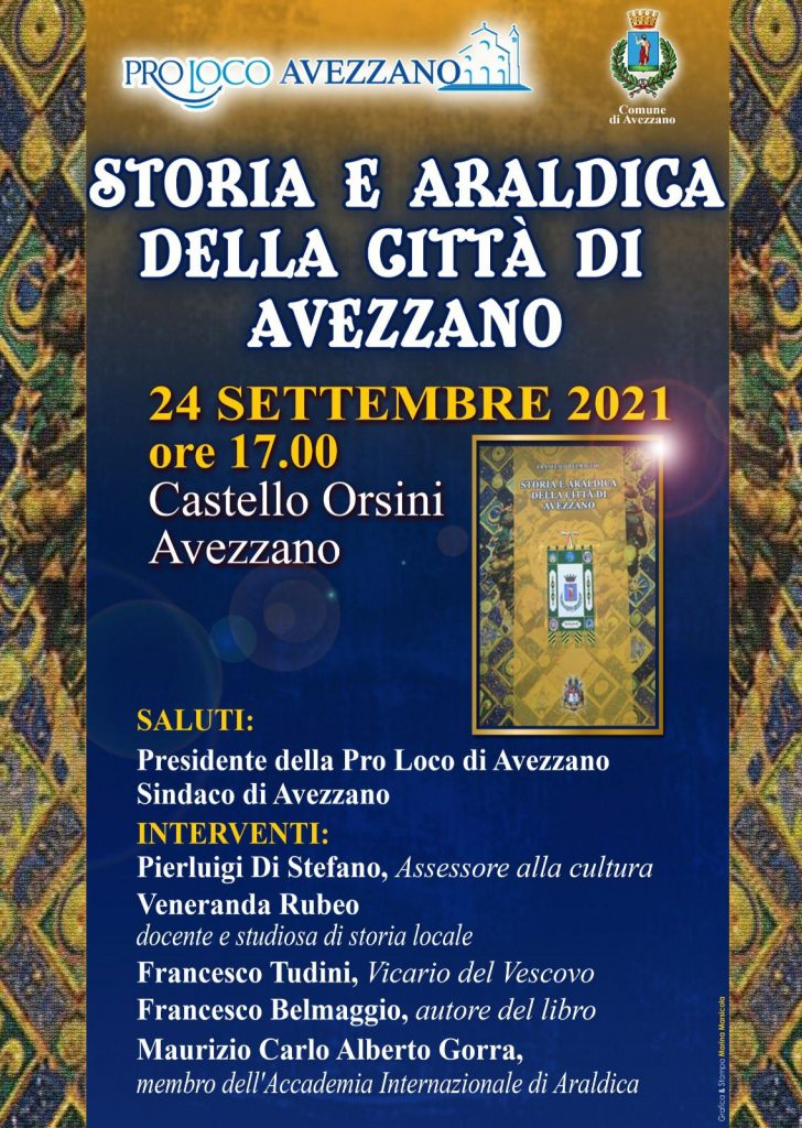 """Presentazione dell'opera """"Storia ed araldica della Città di Avezzano"""" di Francesco Belmaggio al Castello Orsini"""