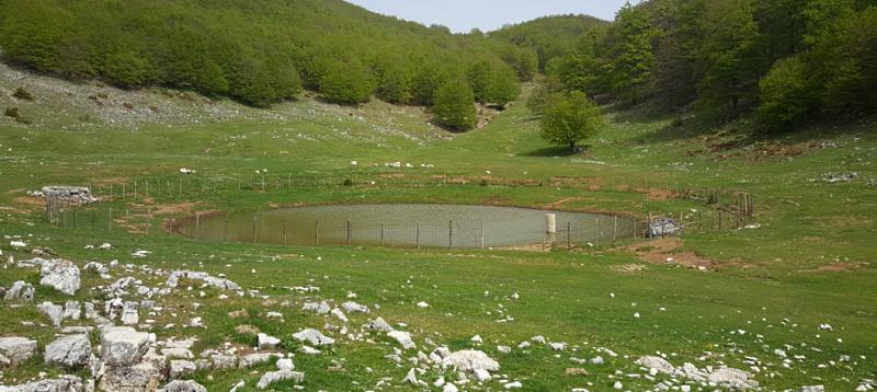 Quasi asciutto il laghetto montano di Civita d'Antino, il Comune interviene per riportare l'acqua e aiutare gli animali