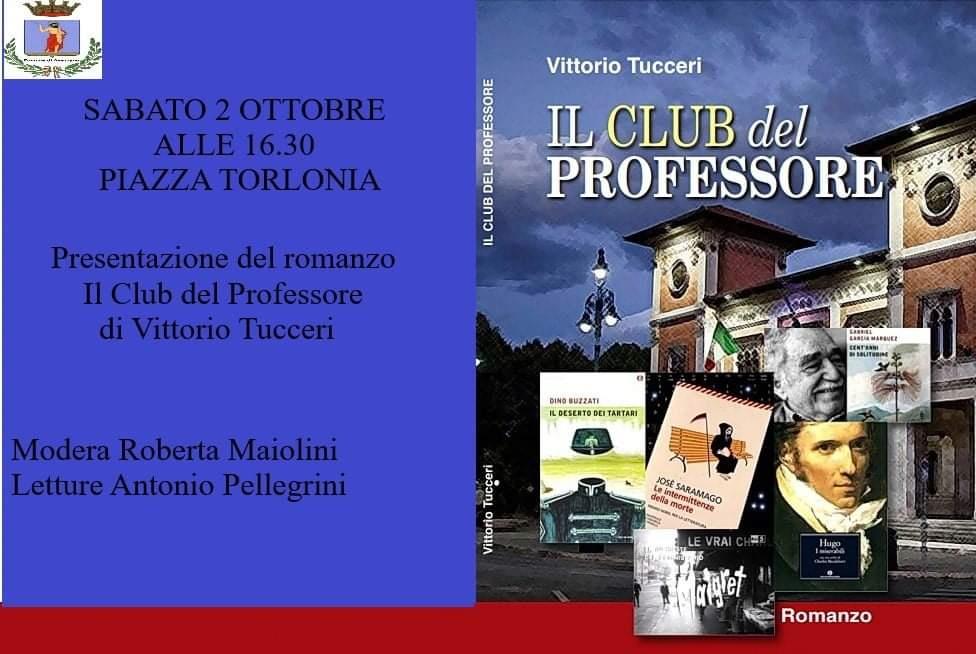 """Presentazione del romanzo """"Il Club del Professore"""" di Vittorio Tucceri"""