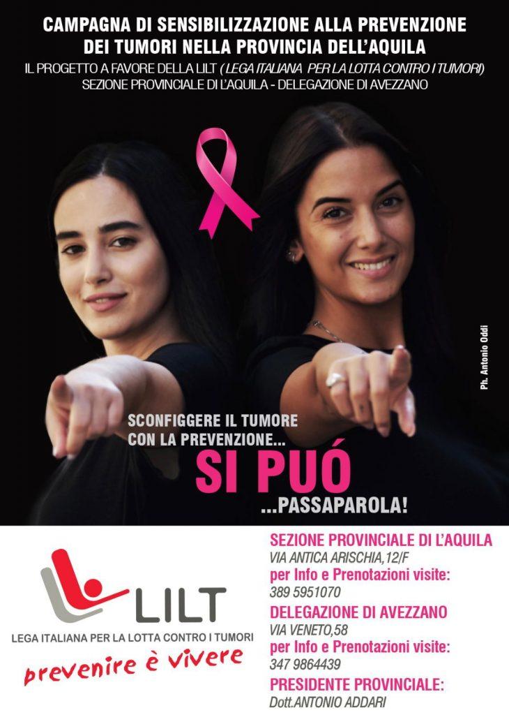 Al via la campagna di sensibilizzazione alla prevenzione dei tumori a favore della LILT nella Provincia dell'Aquila