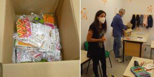 Consegnate le mascherine colorate agli alunni delle prime classi elementari di Aielli e Cerchio