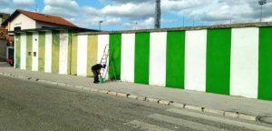 Tornano i colori allo Stadio dei Marsi grazie al lavoro di Carlo Danti