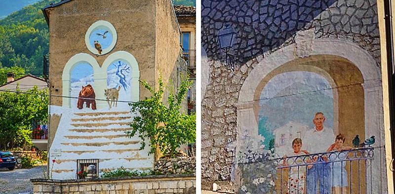 Il restauro dei murales di Fabio Rieti a Collelongo sarà curato dagli studenti dell'Accademia delle Belle Arti