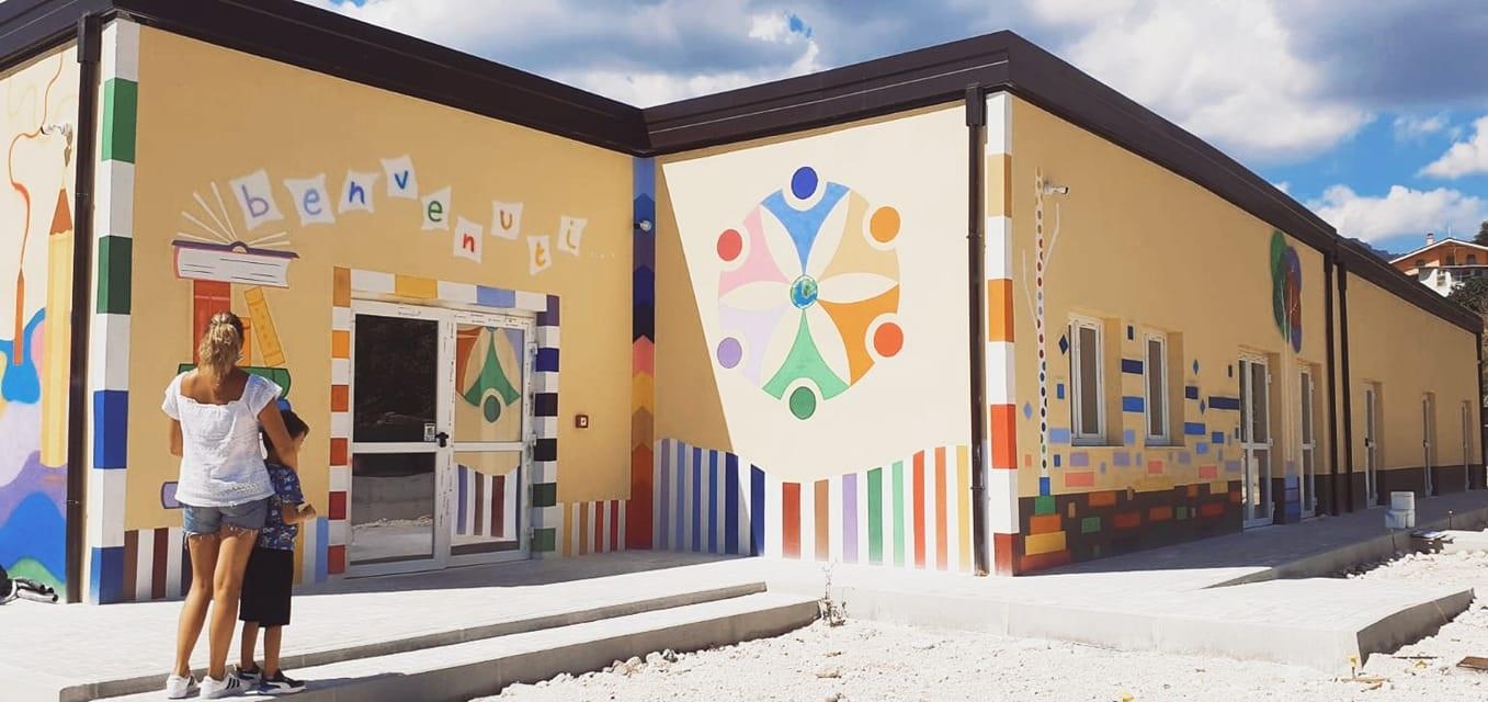 L'onorevole Elena Bonetti a Cerchio, per l'inaugurazione del nuovo plesso scolastico