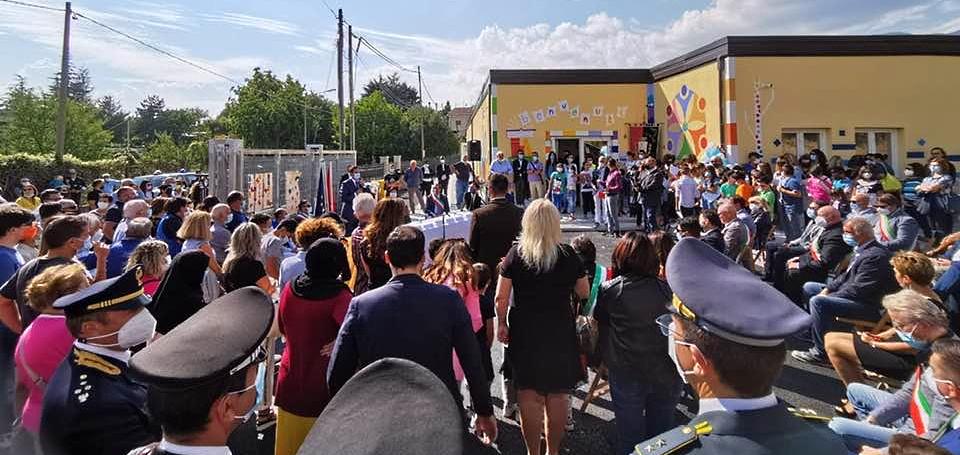 Inaugurazione del nuovo plesso scolastico Aielli-Cerchio: le interviste a Tedeschi, Biondi, Di Benedetto e Alfonsi