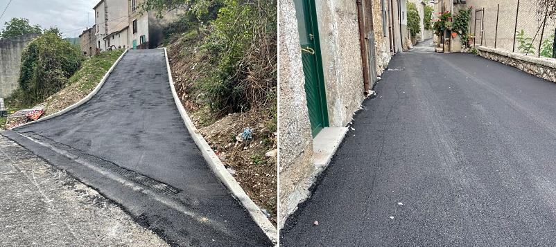 Terminati i lavori di rifacimento di via don Gaetano Tantalo a Villavallelonga