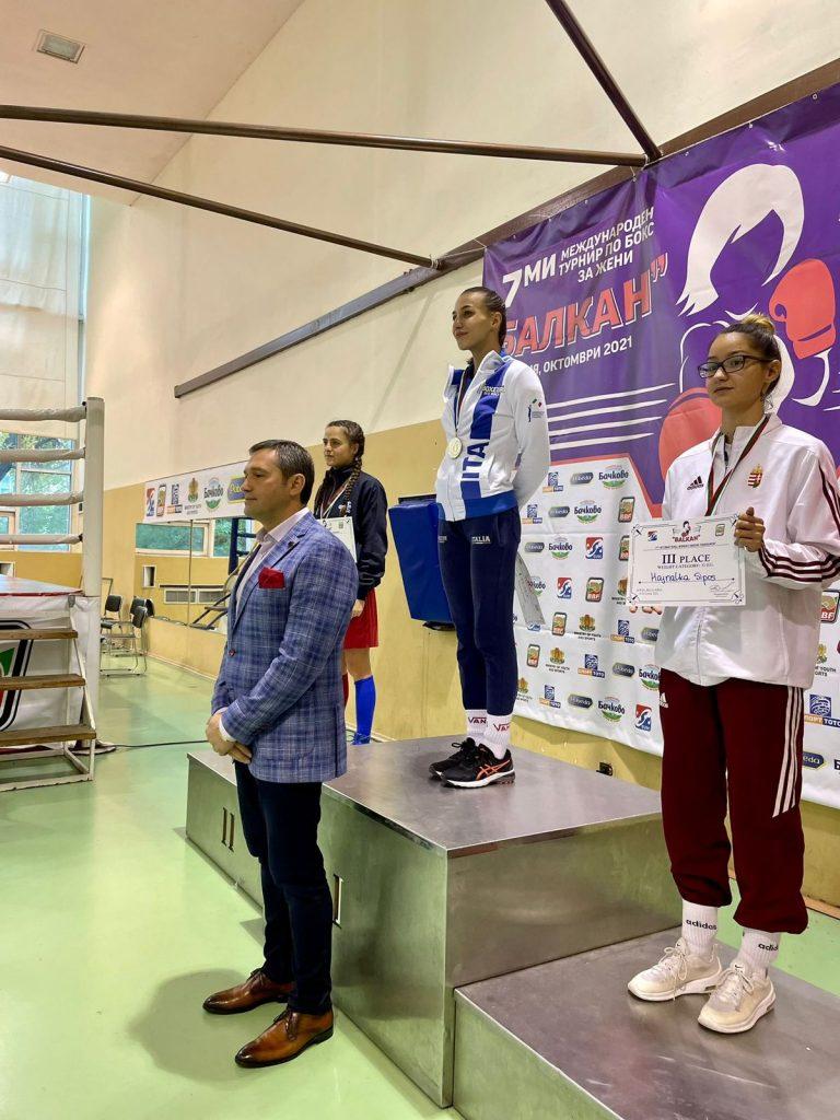 La campionessa Olena Savchuk della Sauli Boxe stravince il torneo Balkan in Bulgaria