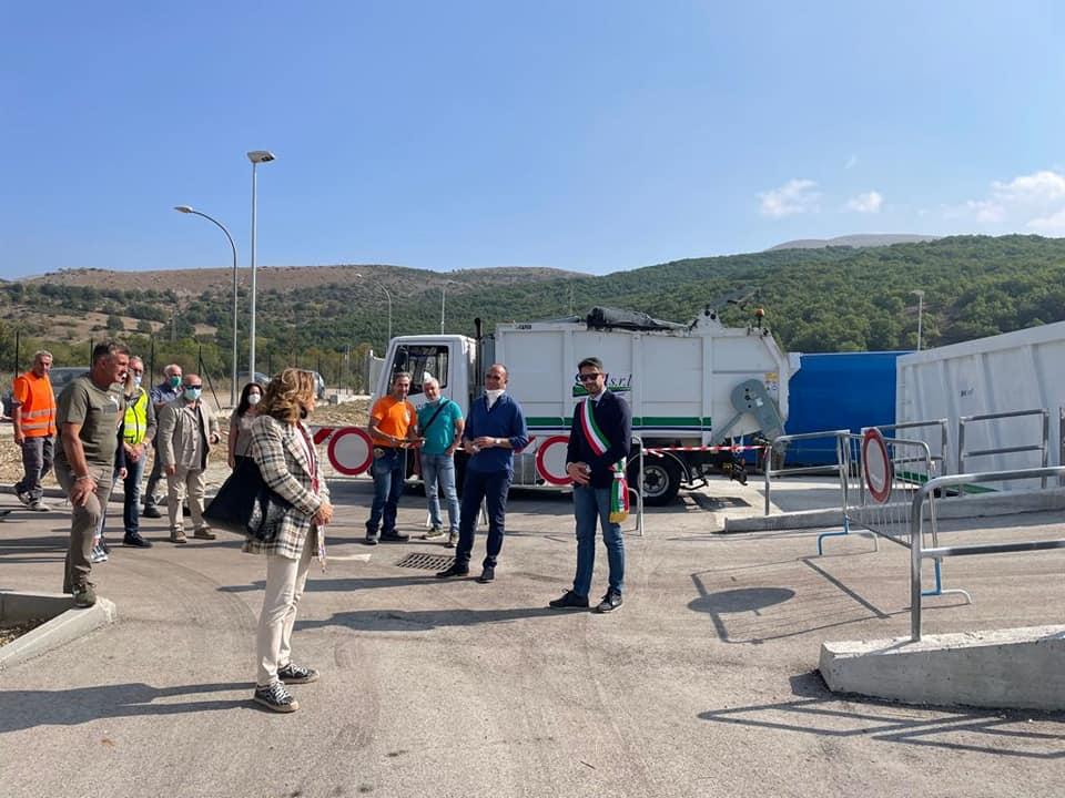 """Inaugurato il Centro Raccolta Comprensoriale di Pescina, Zauri: """"Facendone buon uso vivremo luoghi naturali più puliti"""""""