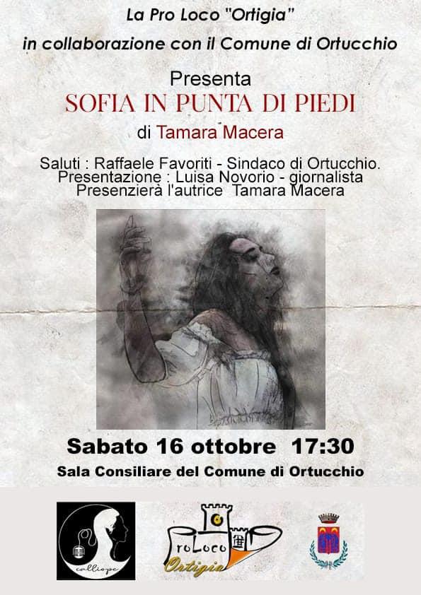 Sofia in punta di piedi, presentazione del secondo romanzo di Tamara Macera sabato 16 ottobre a Ortucchio