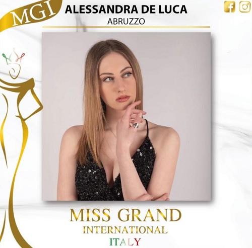 La marsicana Alessandra de Luca tra le prime del concorso Miss Grand International