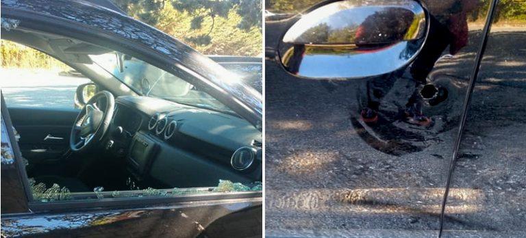 Va a trovare i defunti e si ritrova il finestrino rotto e l'automobile forzata e danneggiata