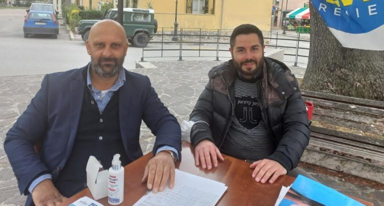 """Saverio Forestiero Lega Marsica """"Soddisfazione per la partecipazione alla raccolta firme per il Referendum Giustizia oggi a Balsorano"""""""