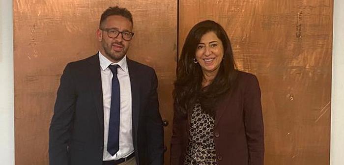Rappresentanti del Comune e associazioni di Aielli ospiti dell'Ambasciata palestinese