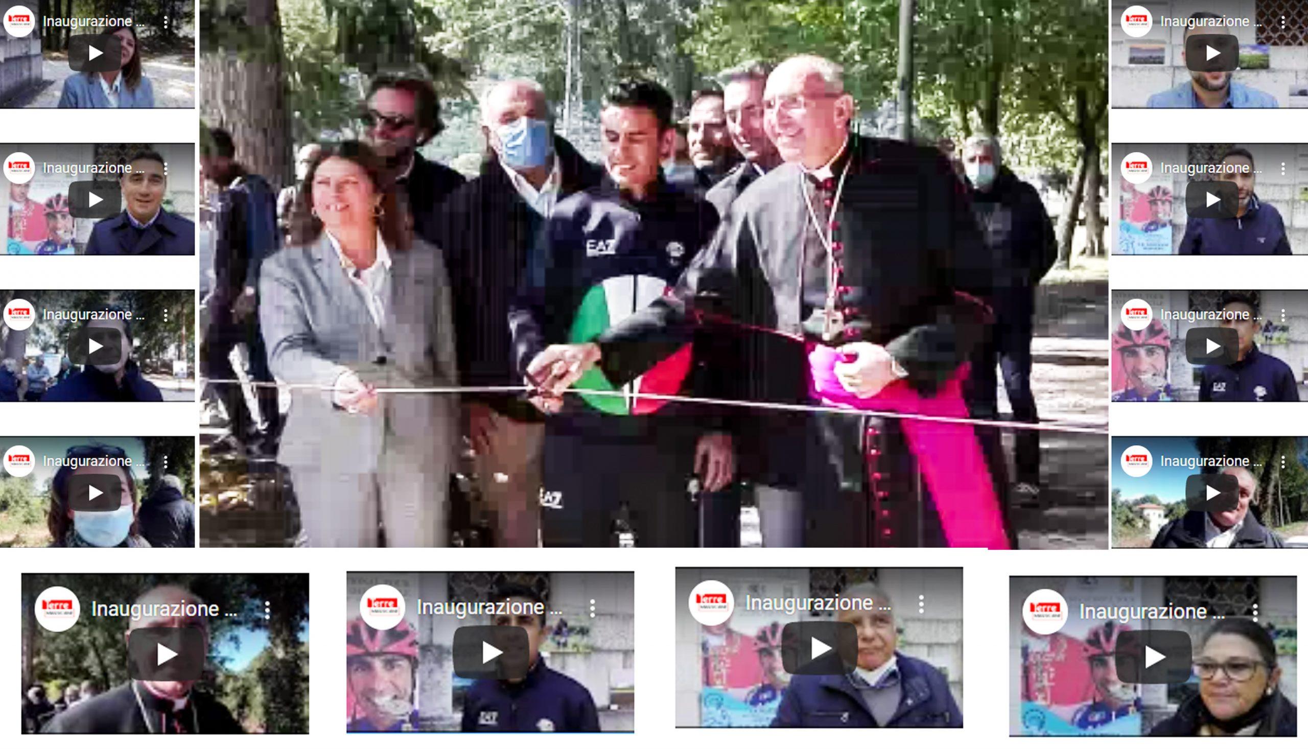 Cancelli aperti al Parco dell'Incile per inaugurare il primo tratta della pista ciclabile che attraverserà il Fucino (tutte le interviste)
