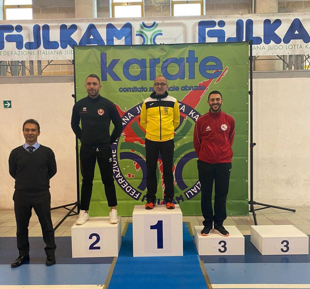 Il karate avezzanese grande protagonista ai Campionati Regionali Assoluti 2021: due Ori e un Argento