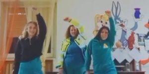 Il simpatico balletto delle volontarie della Misericordia di San Benedetto dei Marsi